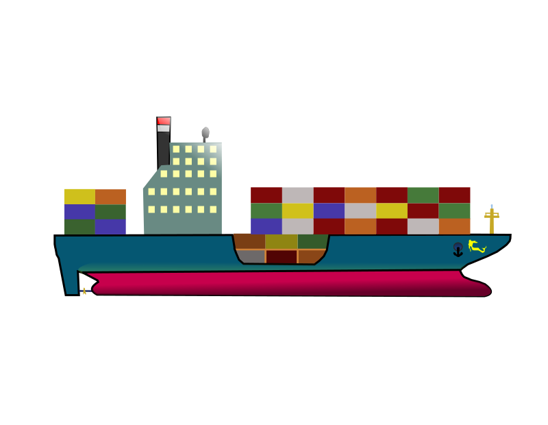 Container Ship - Clipart Remix