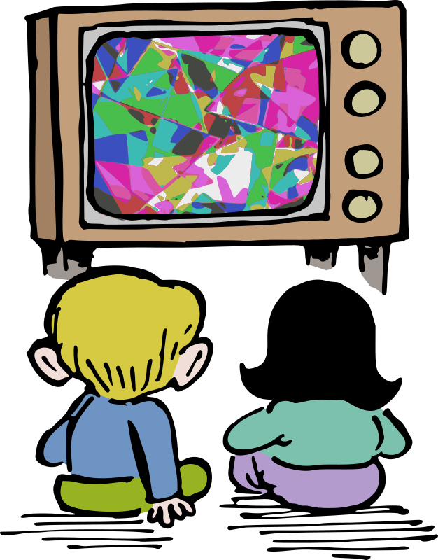 Watching TV - Colour Remix