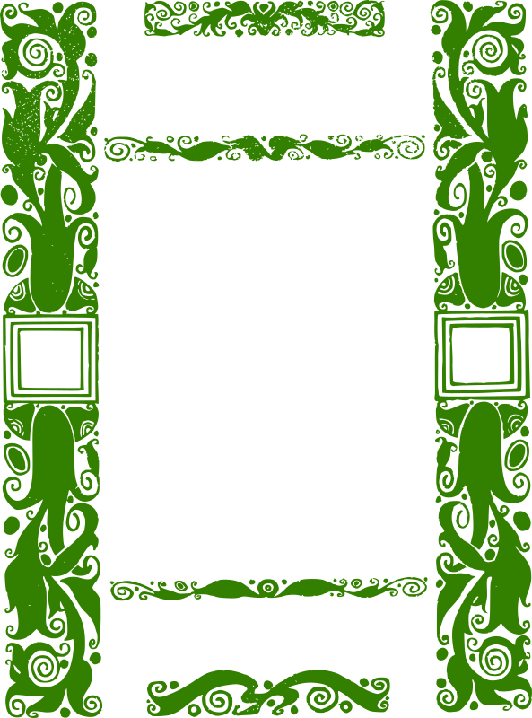 Stylish Green Vines Frame