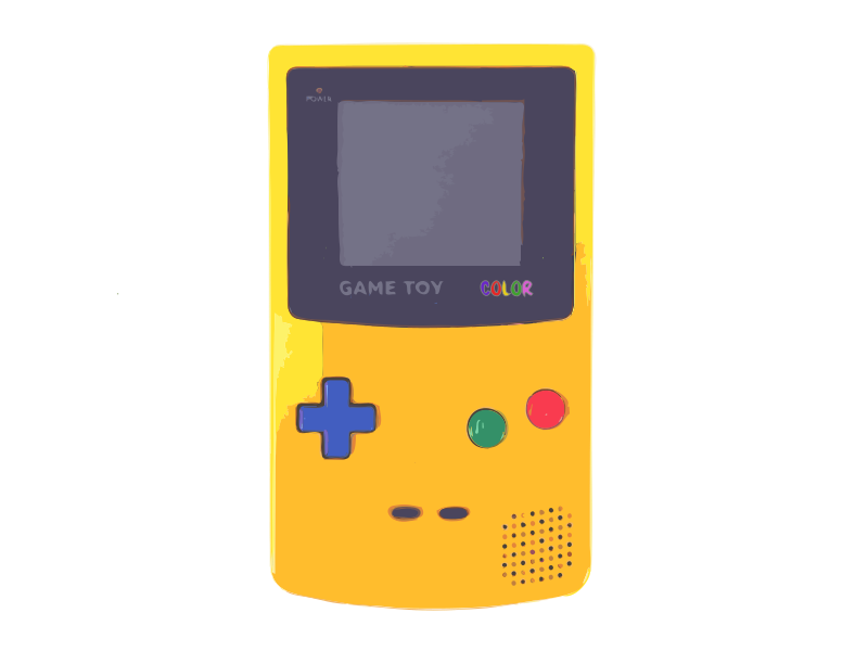 Yellow Video Game System