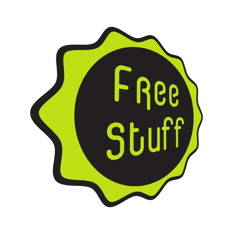 Decal with text Free stuff