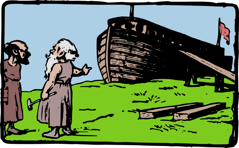 Noah Shows Off His Boat