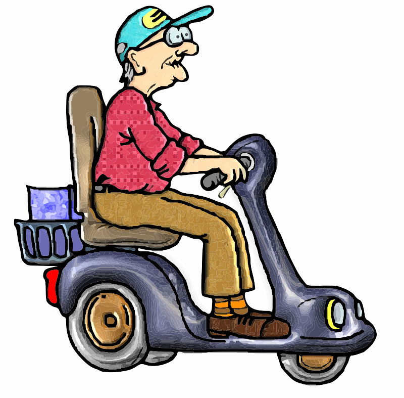 Old Man on a Scooter