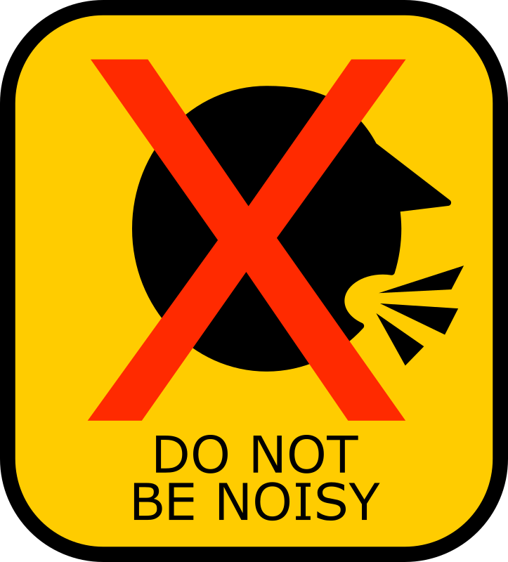 Do Not Be Noisy Sign