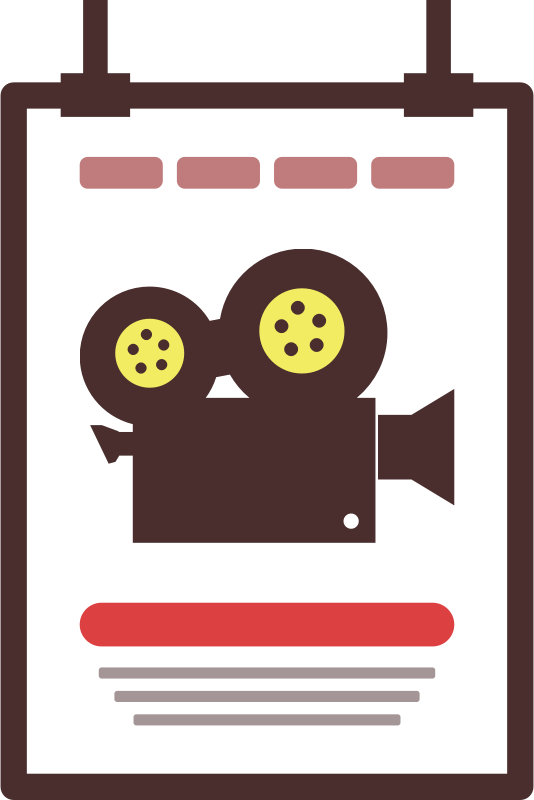 Movie poster icon