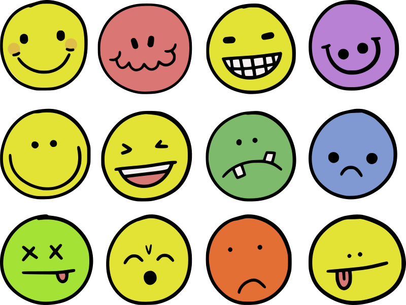 Emoticon Doodles - Colour Remix