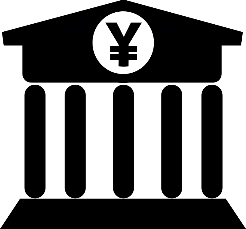 Bank with Yen Icon