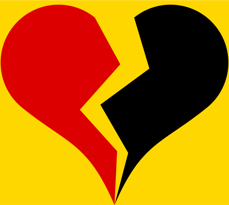 Broken Heart with German national colors