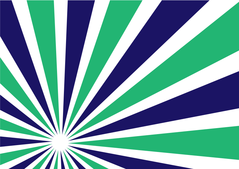 Radial beams green and blue colour