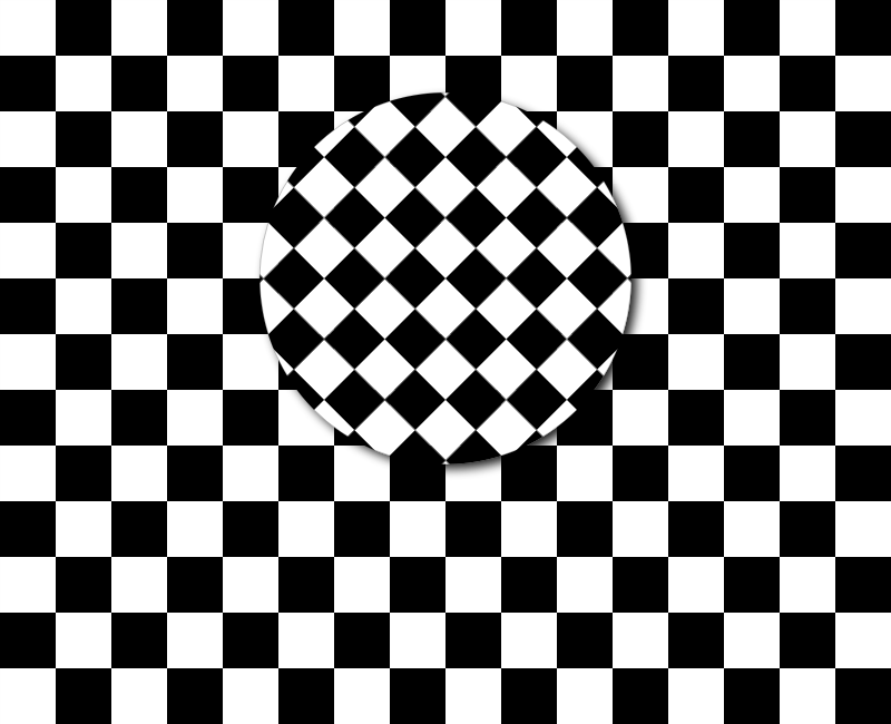 Rotating checkerboard pattern