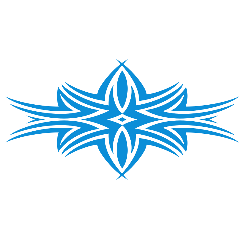 Tribal design shape in blue colour