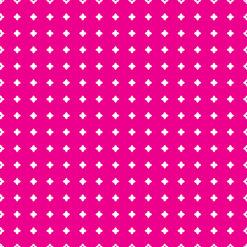Pink background with white pattern