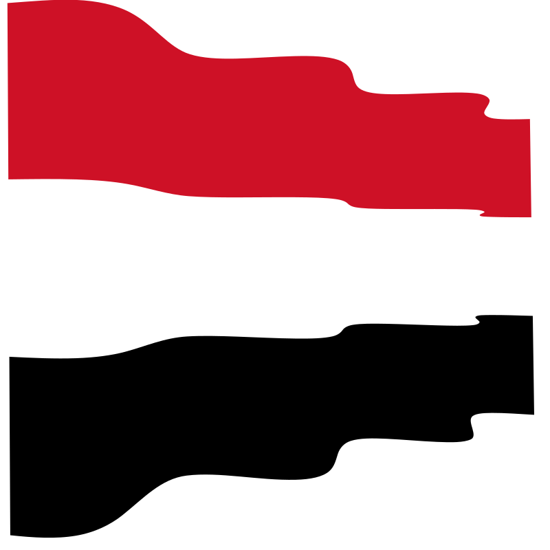 Waving flag of Yemen