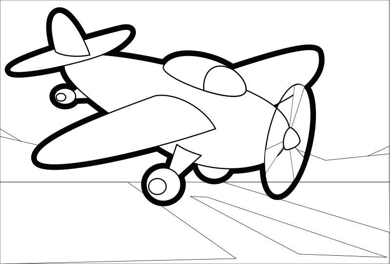 Small Plane - Outline