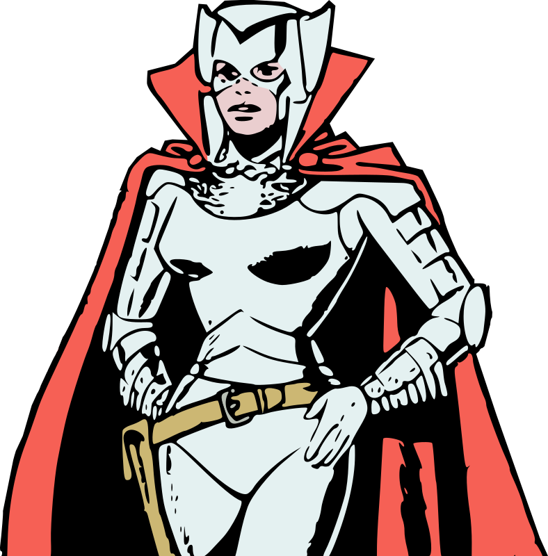 Female villain in armour