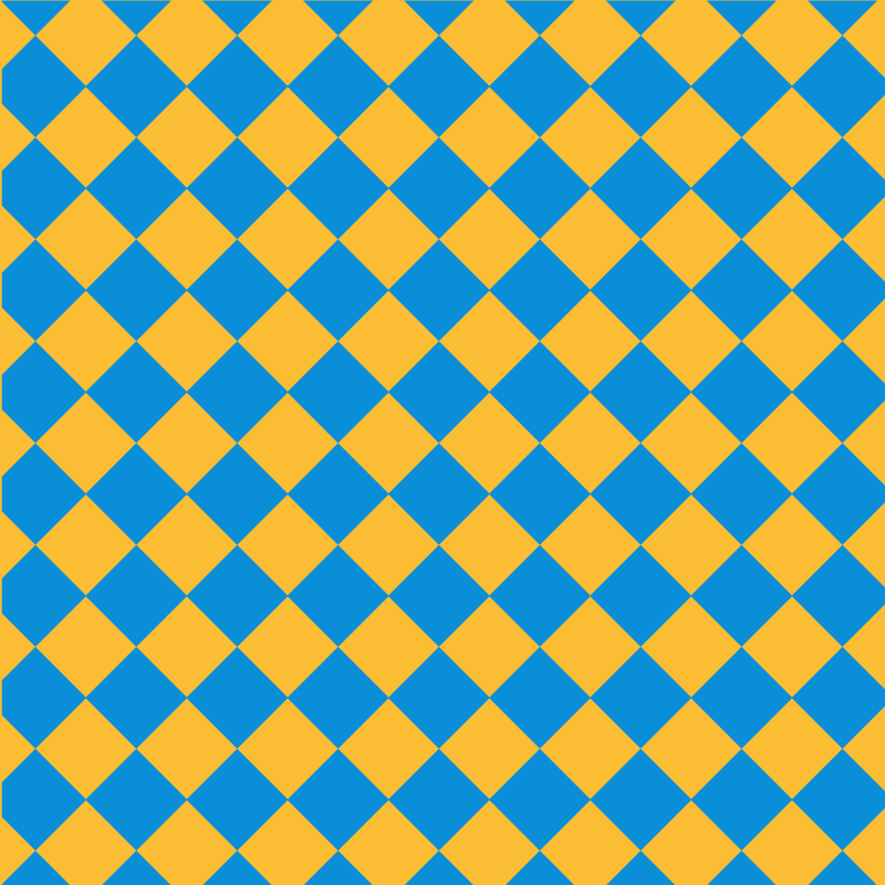 Yellow and blue tiles pattern