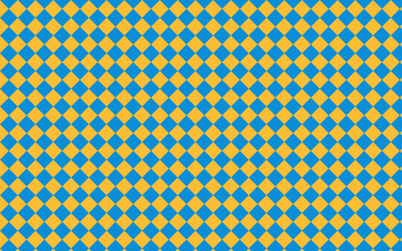 Yellow and blue tiles pattern simplified