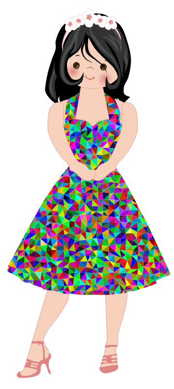Rainbow Dress Lady