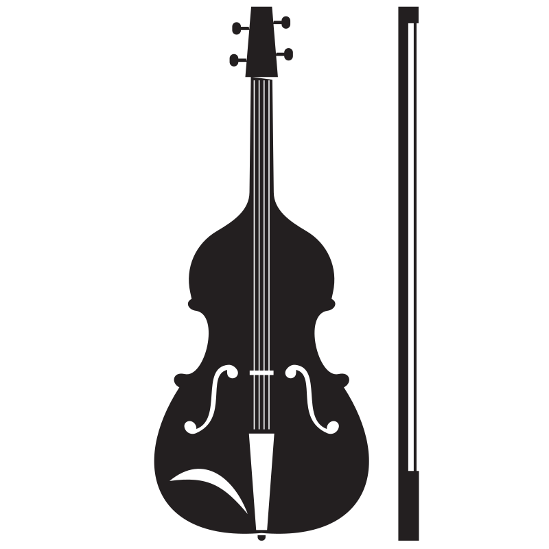 Violin musical instrument silhouette