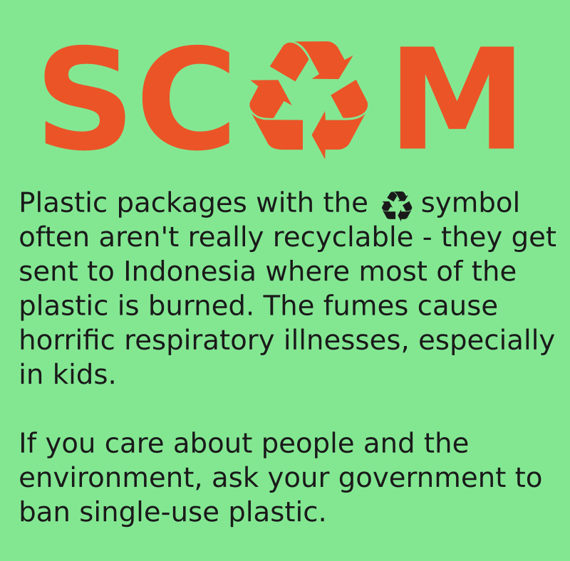 Plastic recycling scam