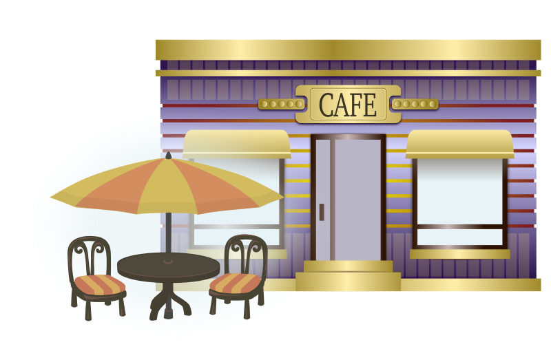 Cafe Building with Outdoor Seating