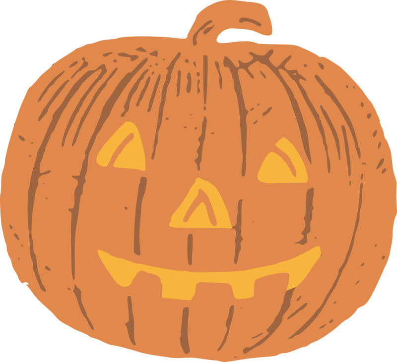 Halloween Jack-o-lantern - Colour