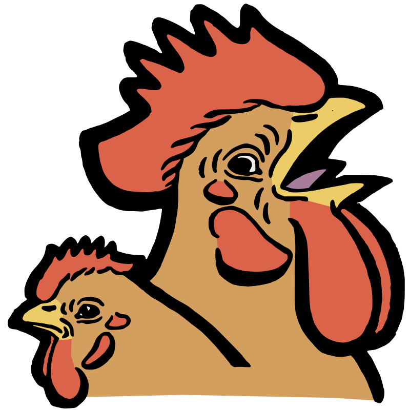 Rooster and a Hen