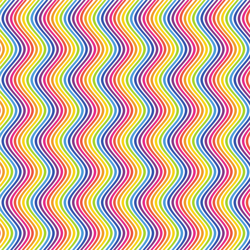 Waving stripes abstract pattern