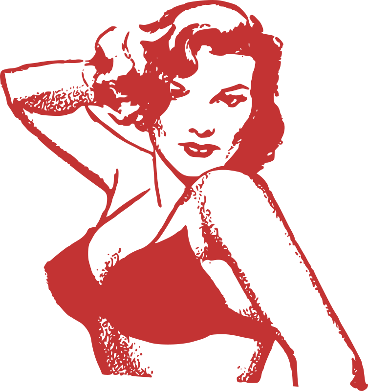 Red Pin Up Lady