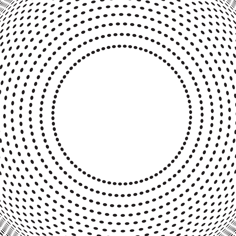 Circular dotted pattern white background
