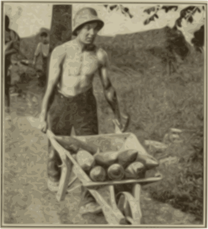 Solider with a Wheelbarrow