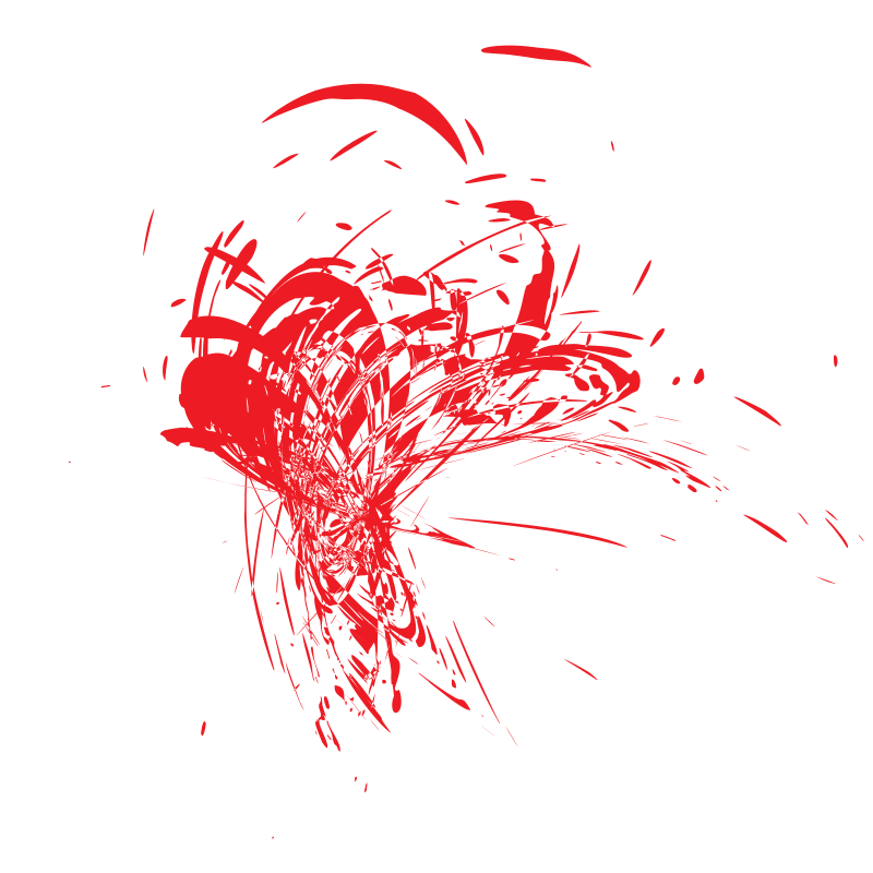 Red paint spatter