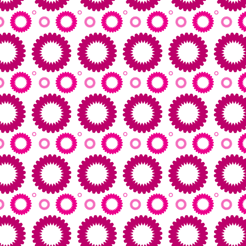Floral shapes pattern background