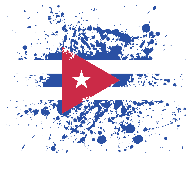 Grungy Cuban flag