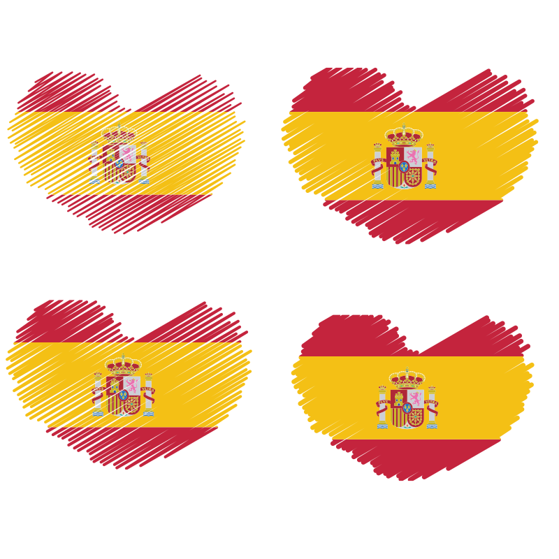 Spanish flag heart shape