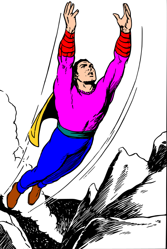 Generic flying superhero
