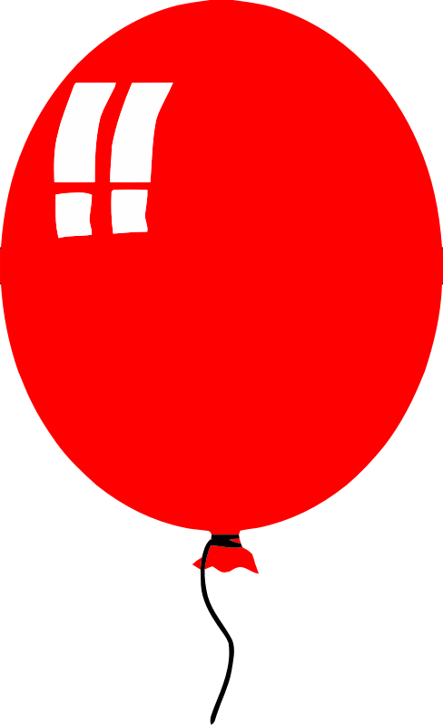 simple balloon - red