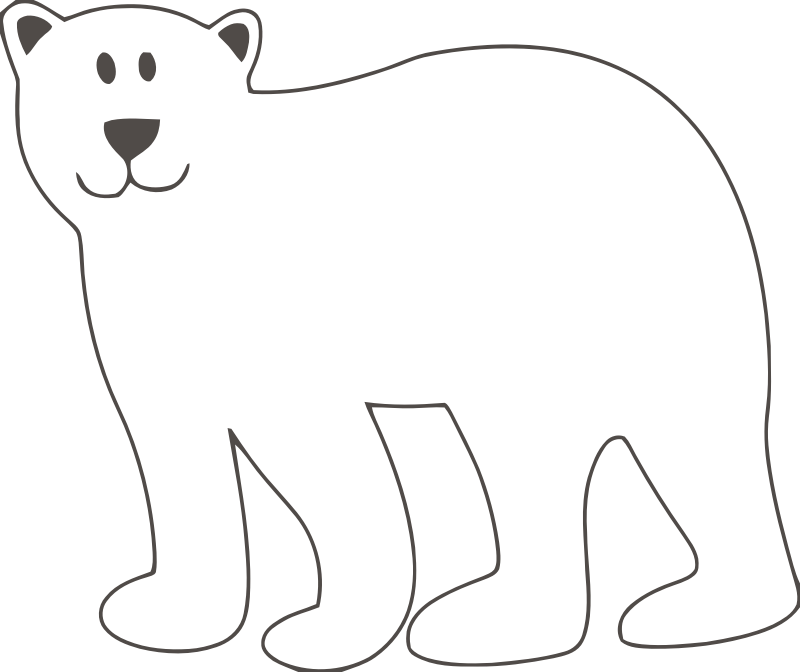 cute bear outline