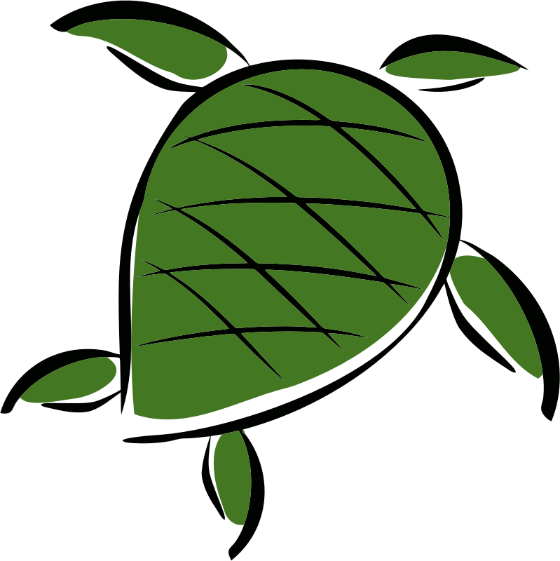 simple stylized sea turtle