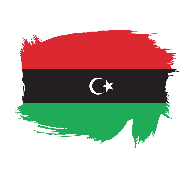 Libya flag brush
