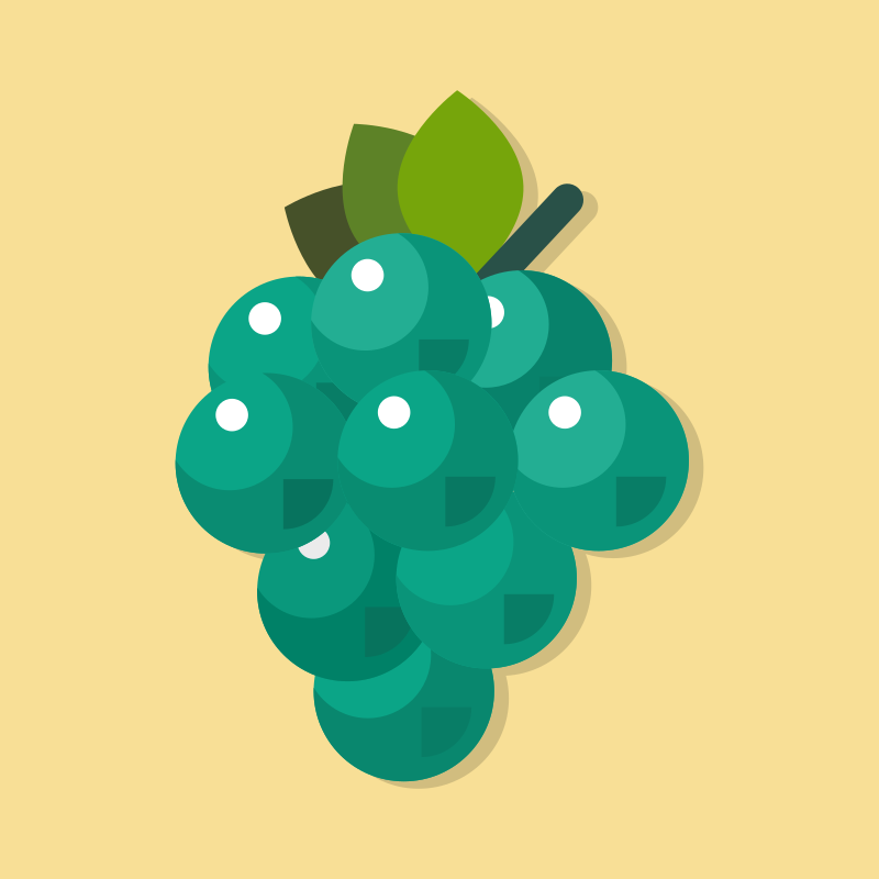 Grapes color icon
