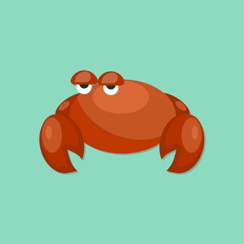 Crab cartoon graphics