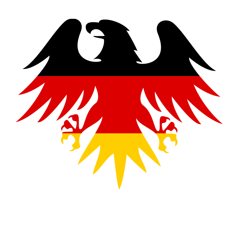 German flag heraldic eagle