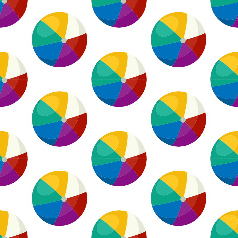 Seamless pattern beach balls