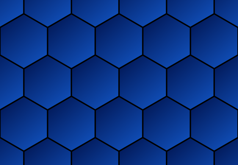 Honeycomb Blue Gradient Background
