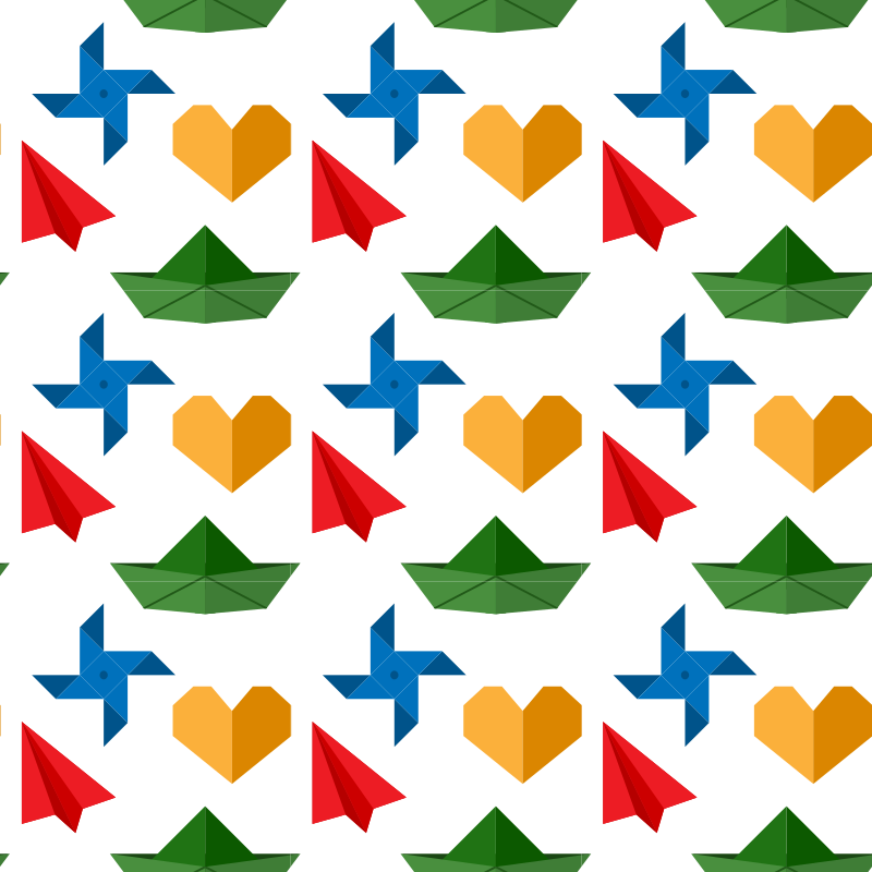Origami shapes seamless pattern