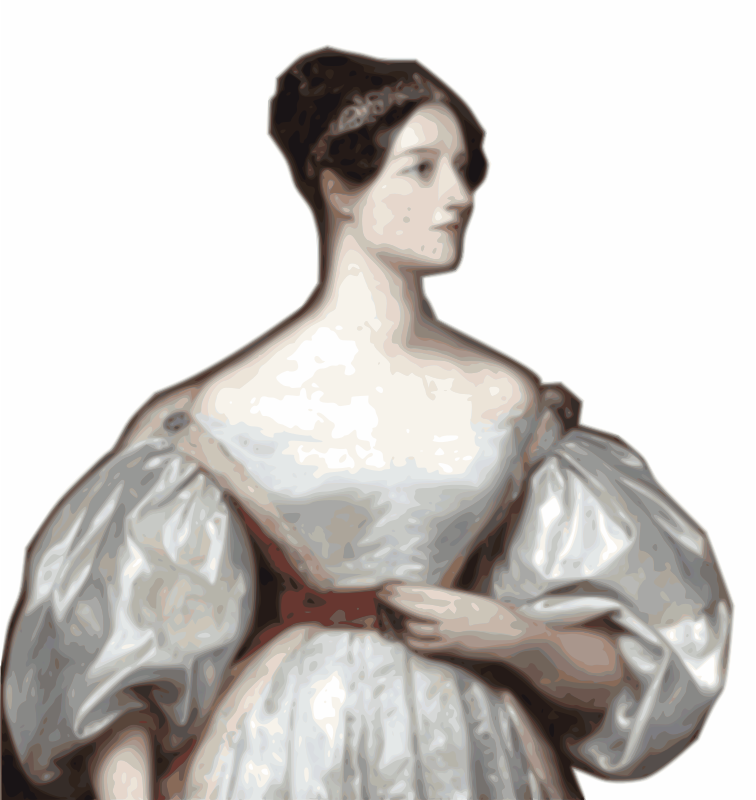 Portrait of Ada Lovelace by British painter Margaret Sarah Carpenter (1836)
