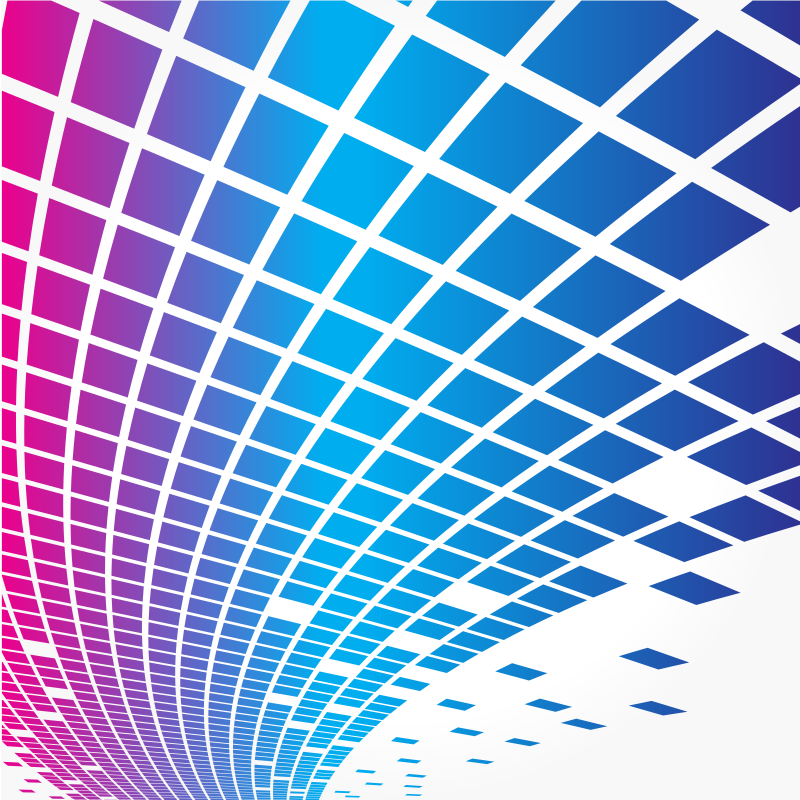 Blue and pink tiles pattern