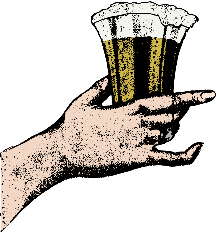 Hand Holds a Glass of Beer