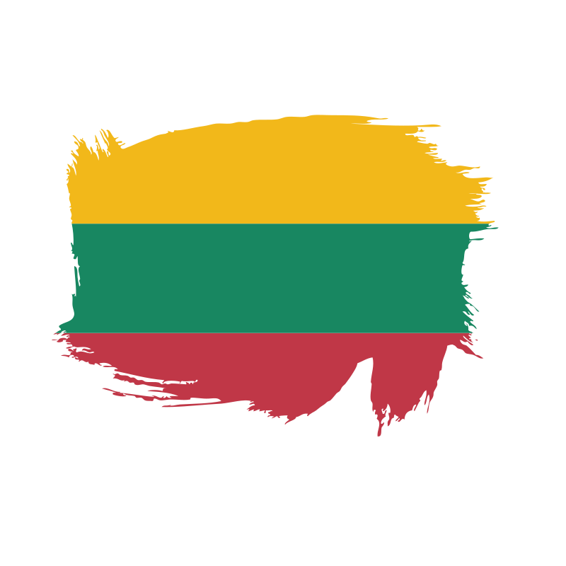 Lithuanian flag paint brush
